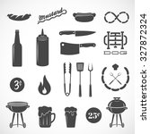 sausage vector flat icons and... | Shutterstock .eps vector #327872324
