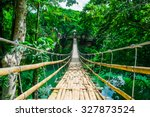bamboo pedestrian suspension... | Shutterstock . vector #327873524