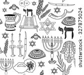 seamless vector pattern with... | Shutterstock .eps vector #327875024