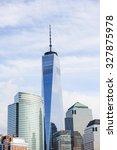 new york  usa   sep 25  2015 ... | Shutterstock . vector #327875978