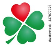 four leaved clover with one red ... | Shutterstock .eps vector #327877724