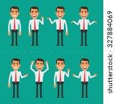 businessman in various poses | Shutterstock .eps vector #327884069
