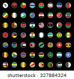 set of round icons african... | Shutterstock .eps vector #327884324