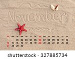 Photo Calendar With Starfish...