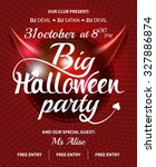 big halloween party pink club... | Shutterstock .eps vector #327886874