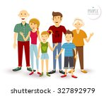 people collection  happy family ... | Shutterstock . vector #327892979