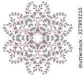 gorgeous symmetrical patchwork... | Shutterstock .eps vector #327893210