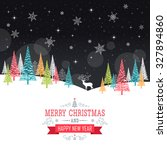 christmas card   illustration... | Shutterstock .eps vector #327894860