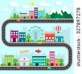city infographics design... | Shutterstock .eps vector #327897278