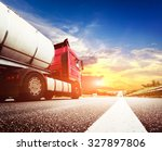 semi truck in motion. speeding... | Shutterstock . vector #327897806