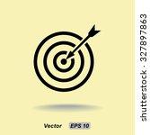 darts target sign icon  vector... | Shutterstock .eps vector #327897863