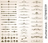 set of calligraphic frames ... | Shutterstock .eps vector #327898559