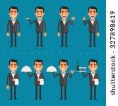 waiter character in various... | Shutterstock .eps vector #327898619
