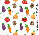 cute vector seamless pattern... | Shutterstock .eps vector #327900296