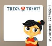 cute halloween vector greeting... | Shutterstock .eps vector #327900344