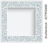 square frame with cutout paper... | Shutterstock .eps vector #327903680