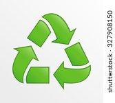 cute vector recycle icon  green ... | Shutterstock .eps vector #327908150