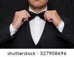 Close Up Of A Gentleman Wearin...