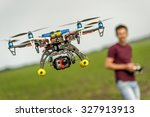 demonstration of unmanned... | Shutterstock . vector #327913913