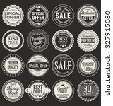 premium  quality retro vintage... | Shutterstock .eps vector #327915080