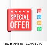 special offer ribbons | Shutterstock .eps vector #327916340