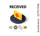 recived icon  vector symbol in...