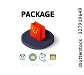 package icon  vector symbol in...