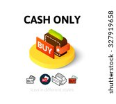 cash only icon  vector symbol...