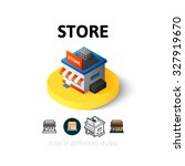 store icon  vector symbol in...