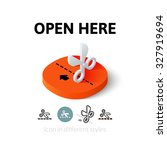 open here icon  vector symbol...