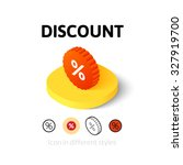 discount icon  vector symbol in ...