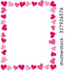 hand drawn pink and red heart... | Shutterstock . vector #327926576
