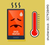 smart phone over heated icon ... | Shutterstock .eps vector #327928490