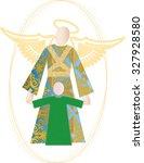 guardian angel color pattern...   Shutterstock . vector #327928580