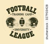 football sport typography print ... | Shutterstock . vector #327933428