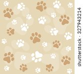 Dog Paw Prints Seamless Patter...