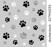 Animal Paw Prints Seamless...