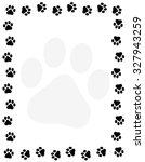 Dog Pawprint Border   Frame On...