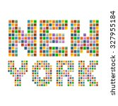 colorful new york text in vector | Shutterstock .eps vector #327955184