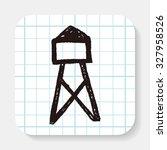transmission tower doodle | Shutterstock . vector #327958526