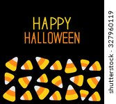 candy corn set. happy halloween ...   Shutterstock .eps vector #327960119