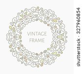 elegant retro varicolored... | Shutterstock .eps vector #327960854