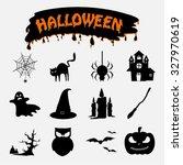 halloween icons | Shutterstock .eps vector #327970619
