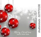 christmas balls and stars.... | Shutterstock .eps vector #327973130