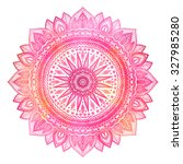 Pink Watercolor Mandala  India...