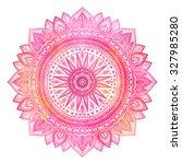 Pink Watercolor Mandala  India...