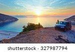 Sea Sunset View Of Myrtos Beac...