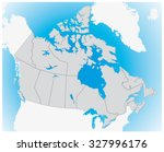 3d map of canada | Shutterstock .eps vector #327996176
