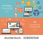 flat designed banners for ux... | Shutterstock .eps vector #328000568
