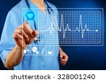 cardiologist working with... | Shutterstock . vector #328001240